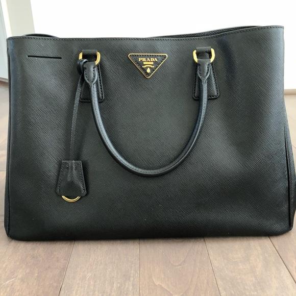 f29685d989f7 Prada Bags | Saffiano Lux Large Tote Black | Poshmark